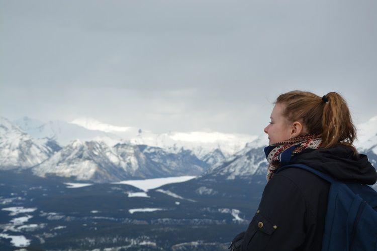 Blick auf die Rocky Mountains vom Sulphur Mountain.