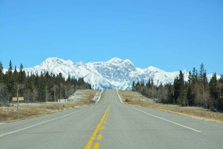 Der ca. 260 km lange Icefields Parkway verbindet Banff mit Jasper.