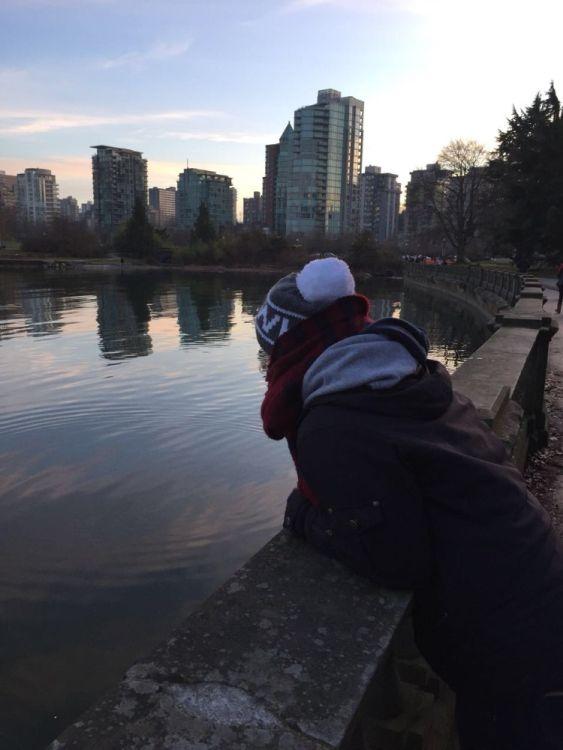 English Bay ist eine Bucht vor Vancouver und von da aus hat man einen tollen Blick.