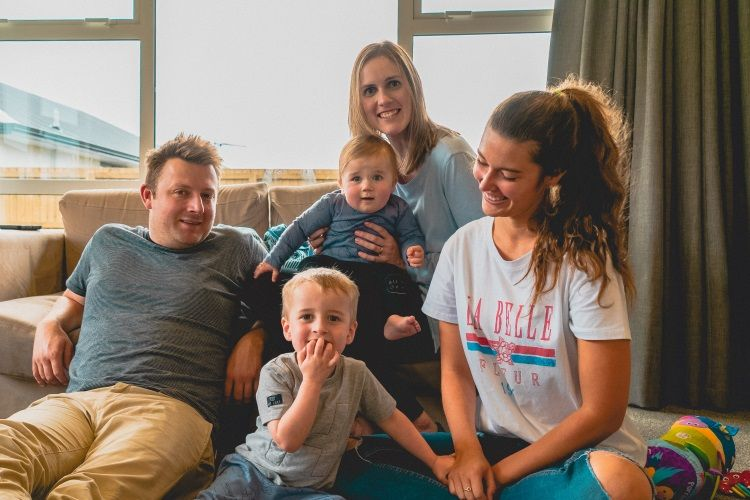 Au Pair mit Host Family