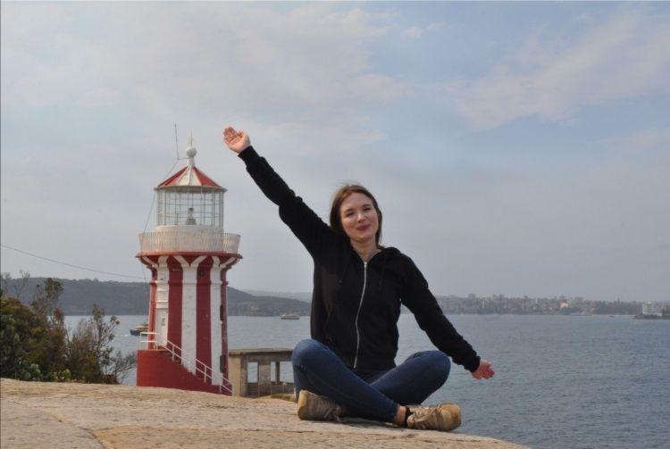 Im Hintergrund: Hornby Lighthouse (Sydney)