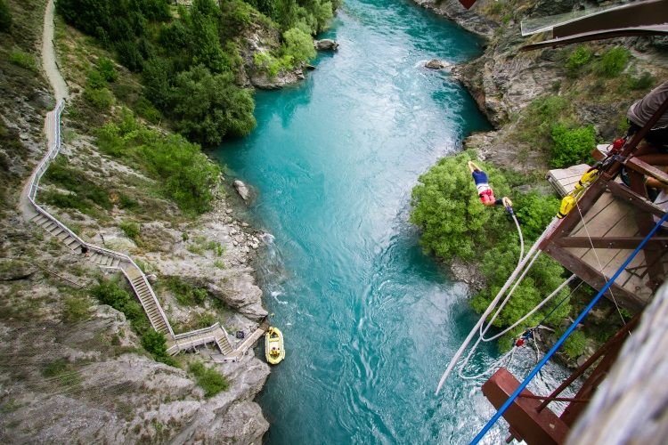 Bungeejumping in Queenstown