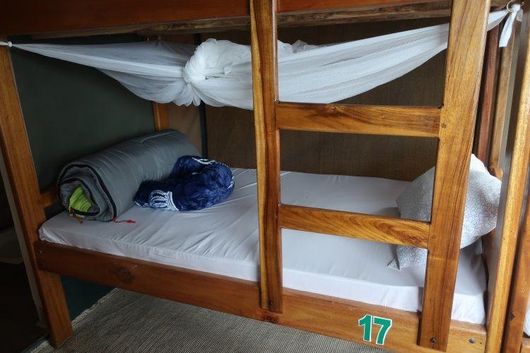 Stockbetten im Camp