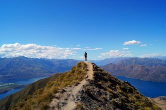 Carolin auf dem Roys Peak