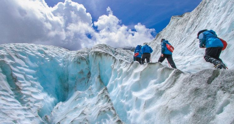 Eisklettern auf dem Franz Josef Getscher
