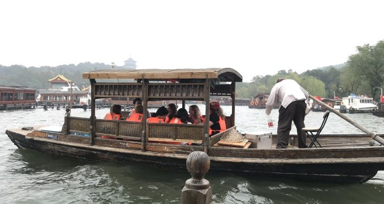 Bootsfahrt durch Hangzhou