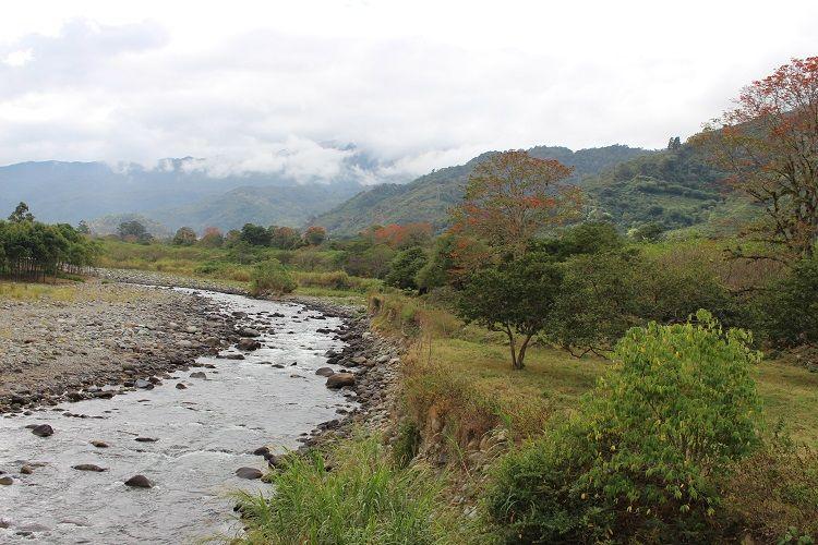 Landschaft mit Fluss