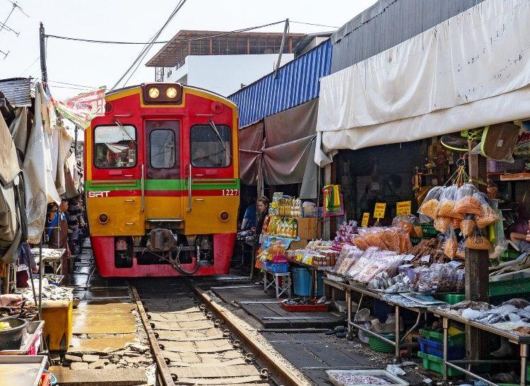 Eisenbahn Markt Thailand