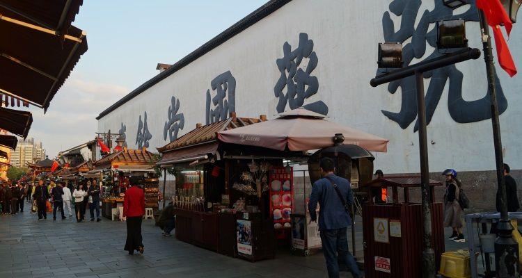 Marktstände in Hangzhou