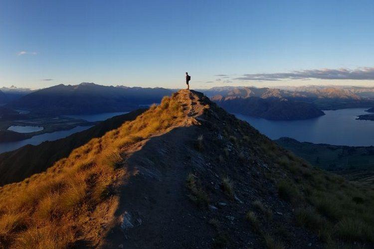 Samuel auf dem Roys Peak