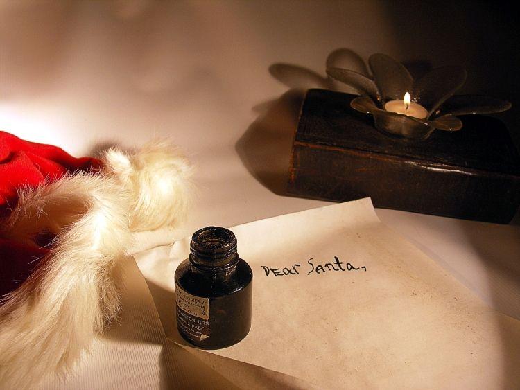 Santa Claus Wunschzettel