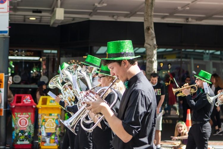 Irische Musik am St. Patrick's Day