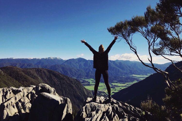 Svenja im Abel Tasman National Park