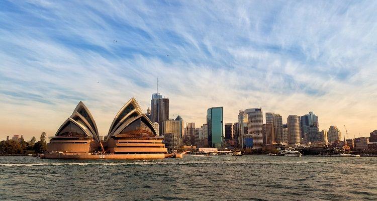 Blick aufs Opernhaus in Sydney