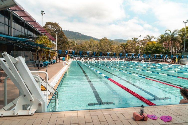 Der campuseigene Pool