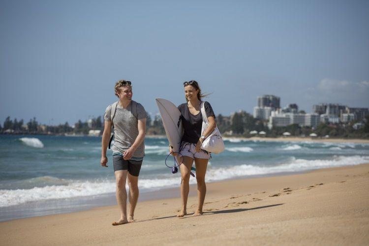 Praktikum direkt am Strand