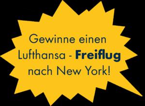 Gewinne einen Lufthansa Freiflug nach New York City!