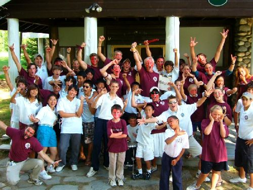 Camp America 2006...Maine Golf and Tennis Academy: colour war - maroon against grey....and the winner was: MAROON!!!