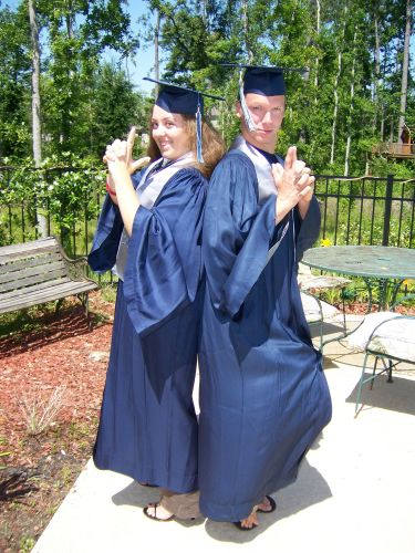 my hostbrother and I posing on graduation day. (seniors 007) ;)